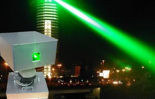 10 watts single green landmark laser / roof lighting laser light